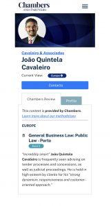 Chambers and Partners_João Quintela Cavaleiro_Cavaleiro & Associados