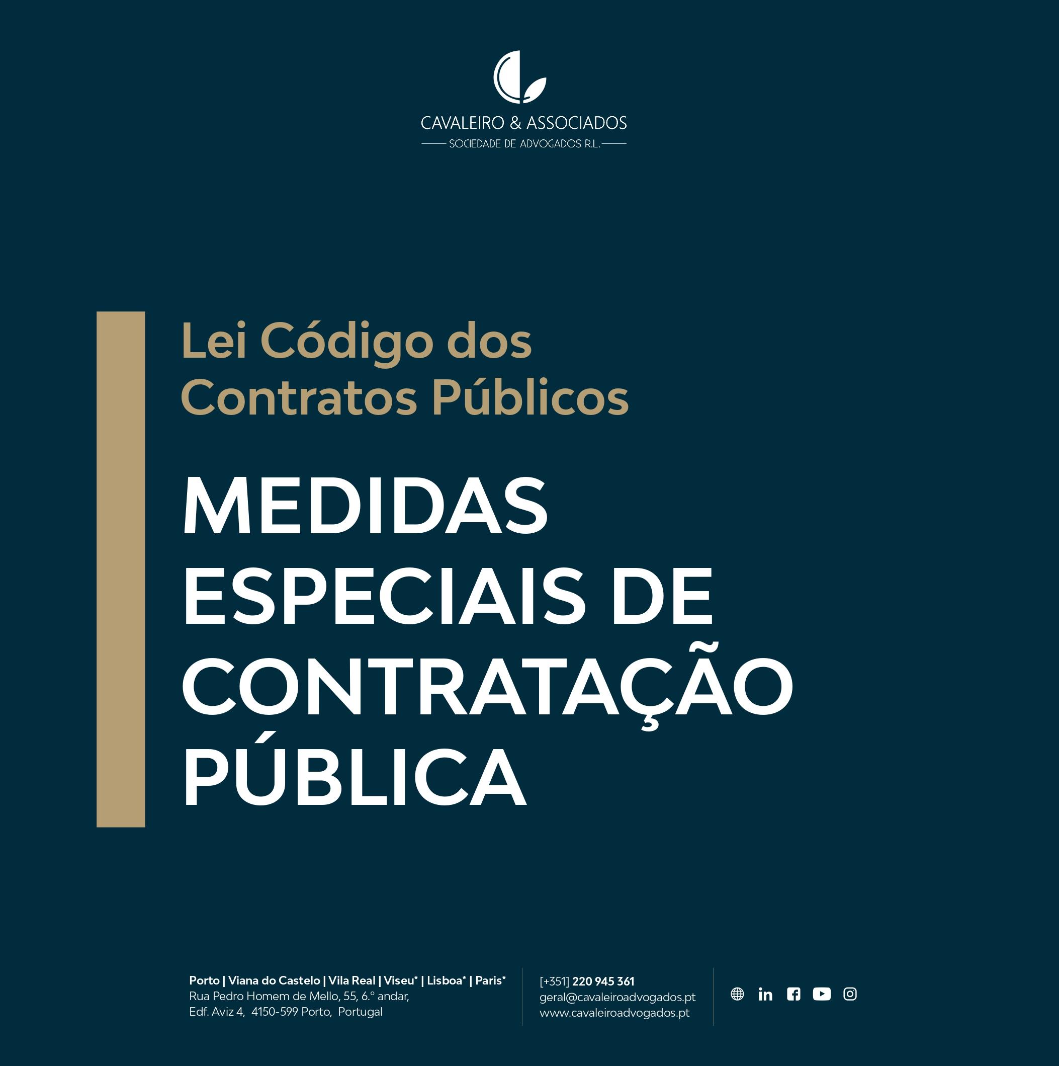 Medidas Especiais de Contratação Pública
