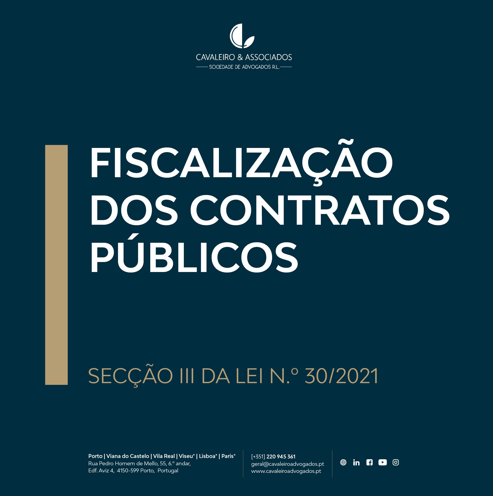 Fiscalização dos Contratos Públicos