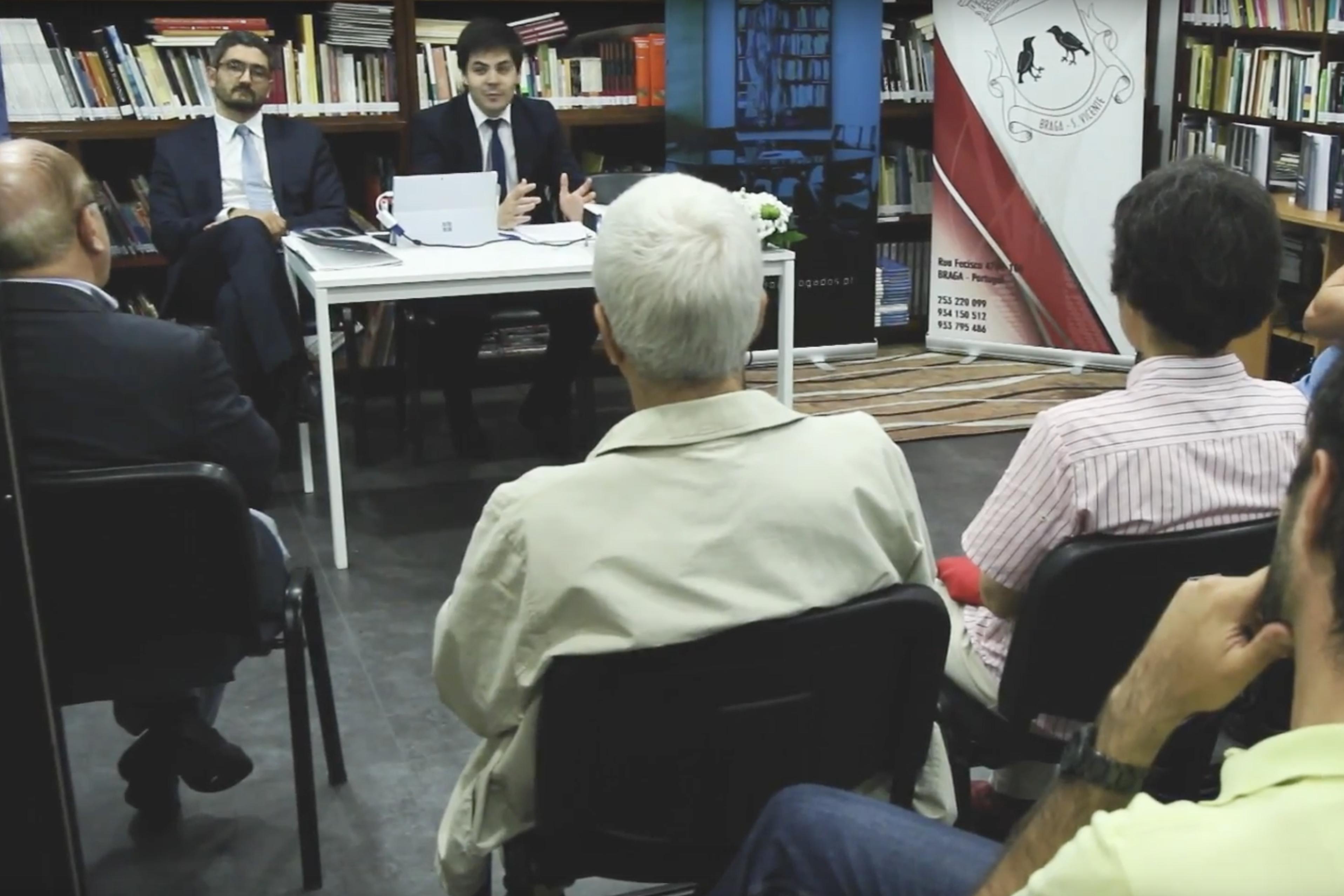 Apresentação livro Braga, com Dr. Domingos Alves