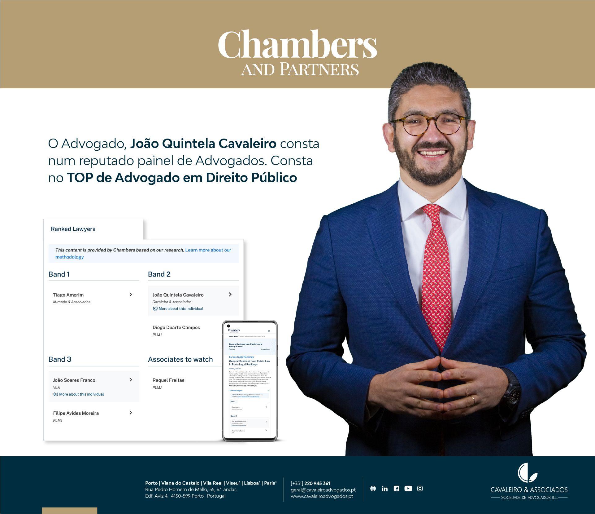João Quintela Cavaleiro – Top Advogado Direito Público Chambers and Partners