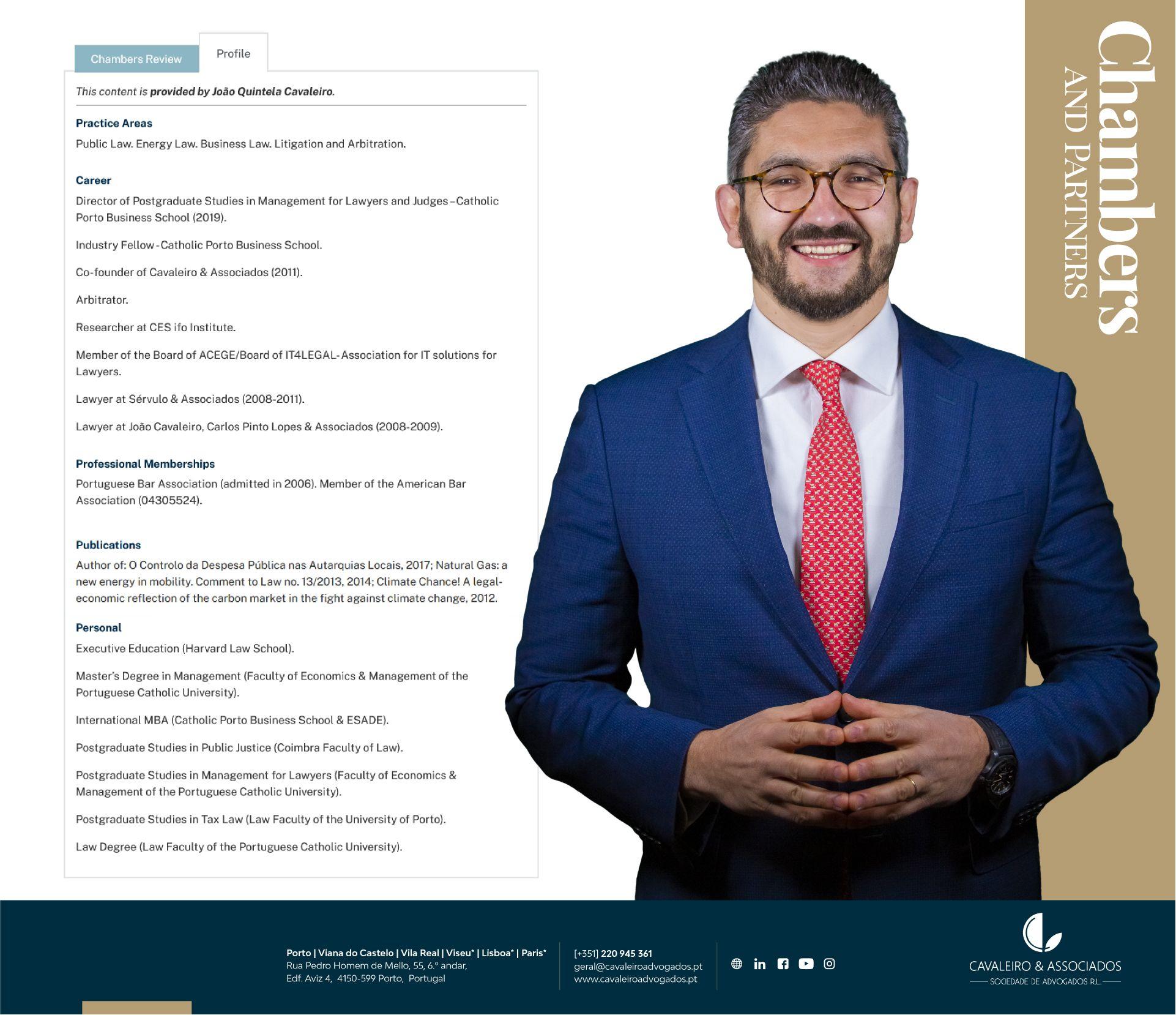 João Quintela Cavaleiro – Destaque Chambers and Partners
