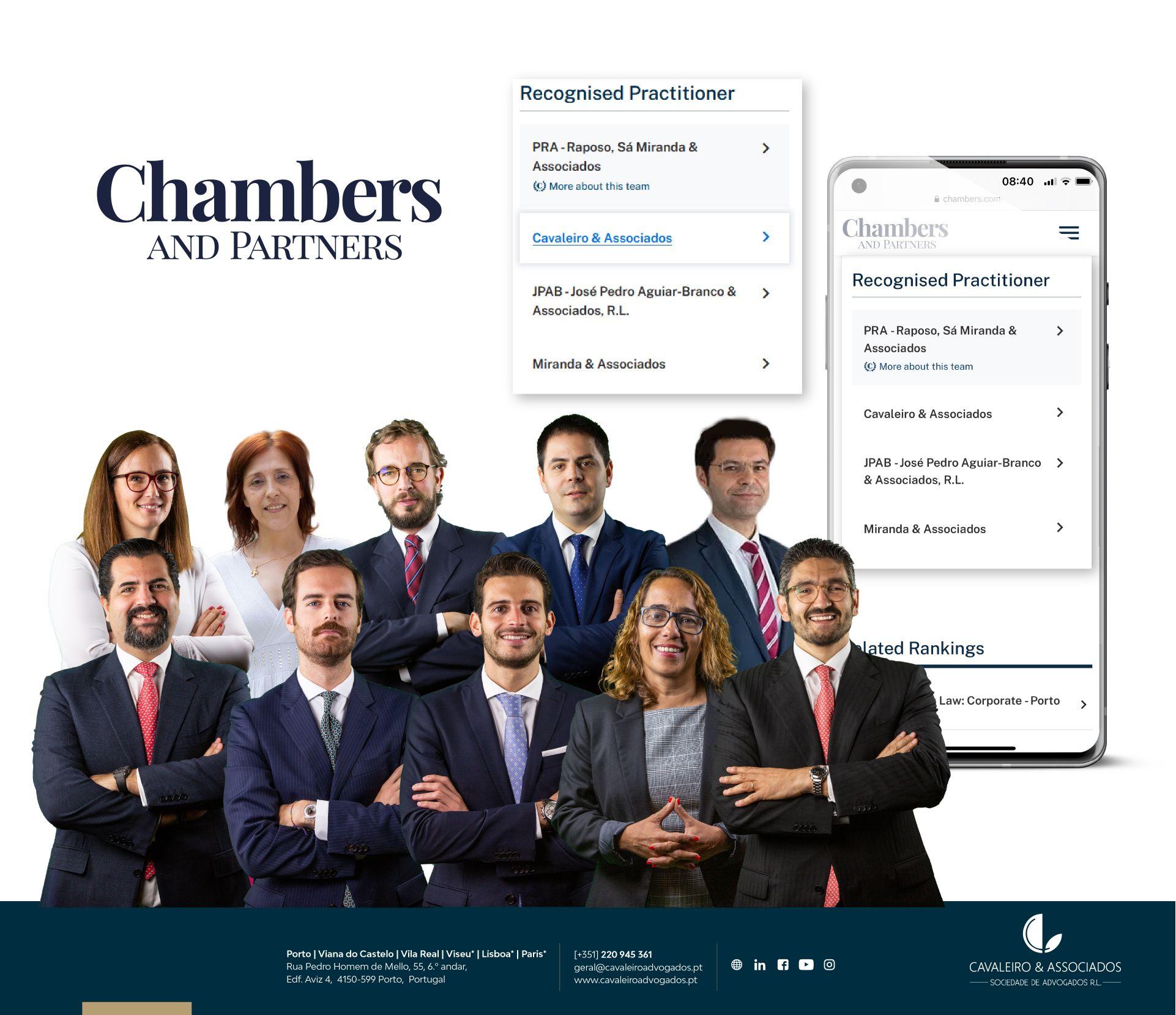 Cavaleiro e Associados – Destaque Chambers and Partners