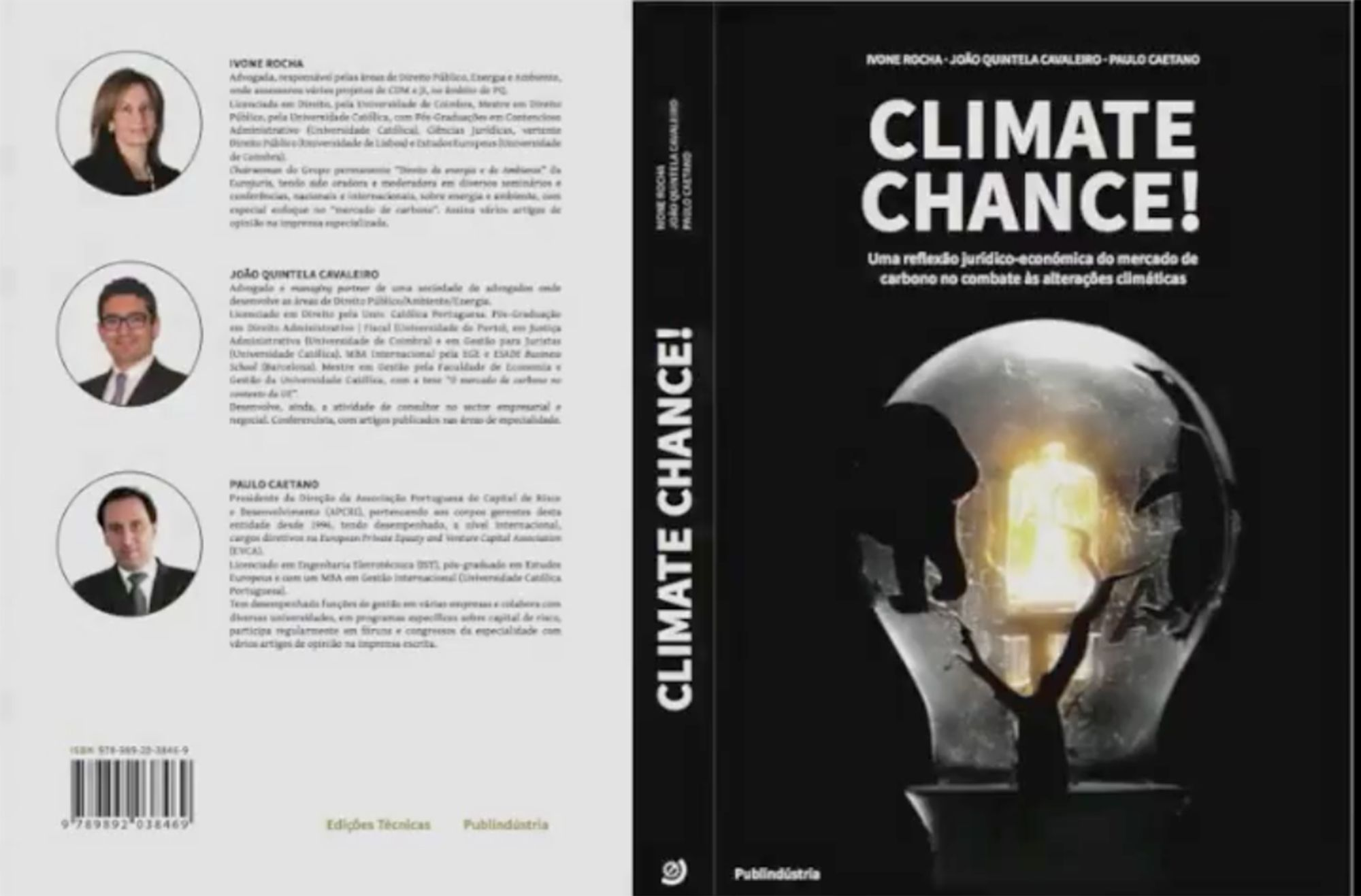 Eng. Carlos Pimenta na apresentação do livro Climate Chance