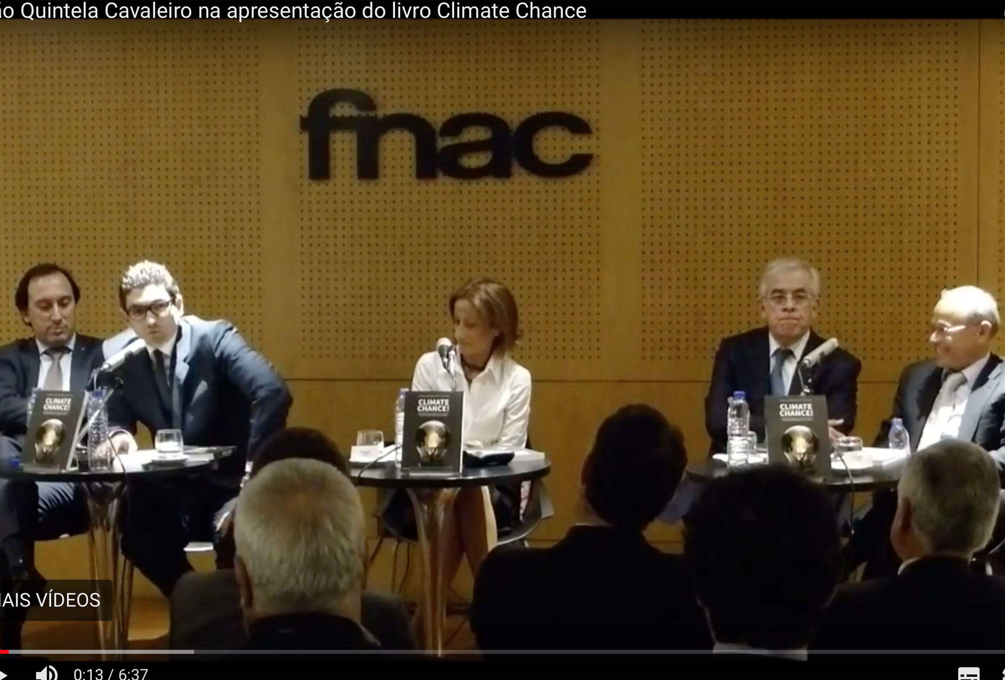 João Quintela Cavaleiro na apresentação do livro Climate Chance