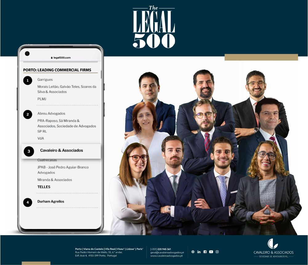 Cavaleiro e Associados – The Legal 500  RANKINGS