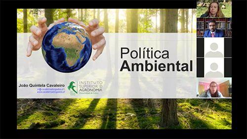 """Webinar """"Politica Ambiental – Introdução ao direito I O direito do ambiente em contexto de Pandemia"""" por João Quintela Cavaleiro"""