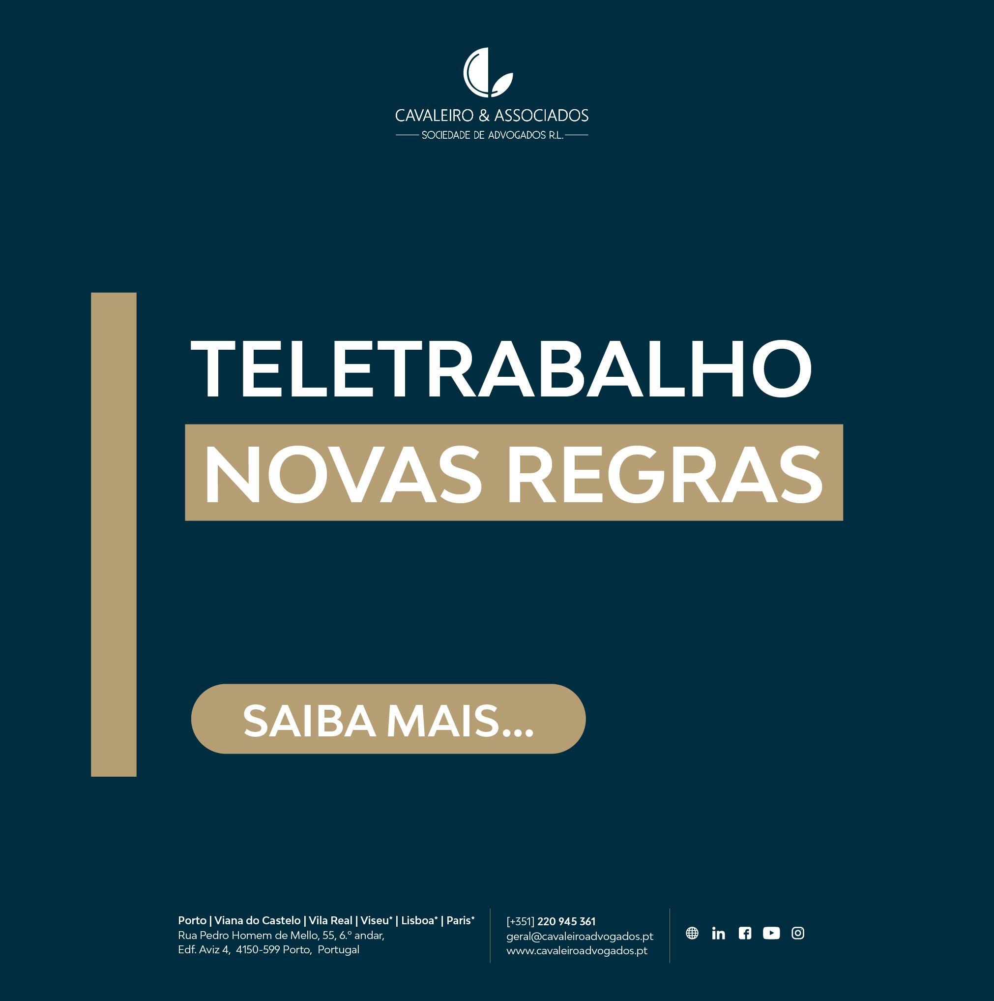 Teletrabalho: Novas Regras