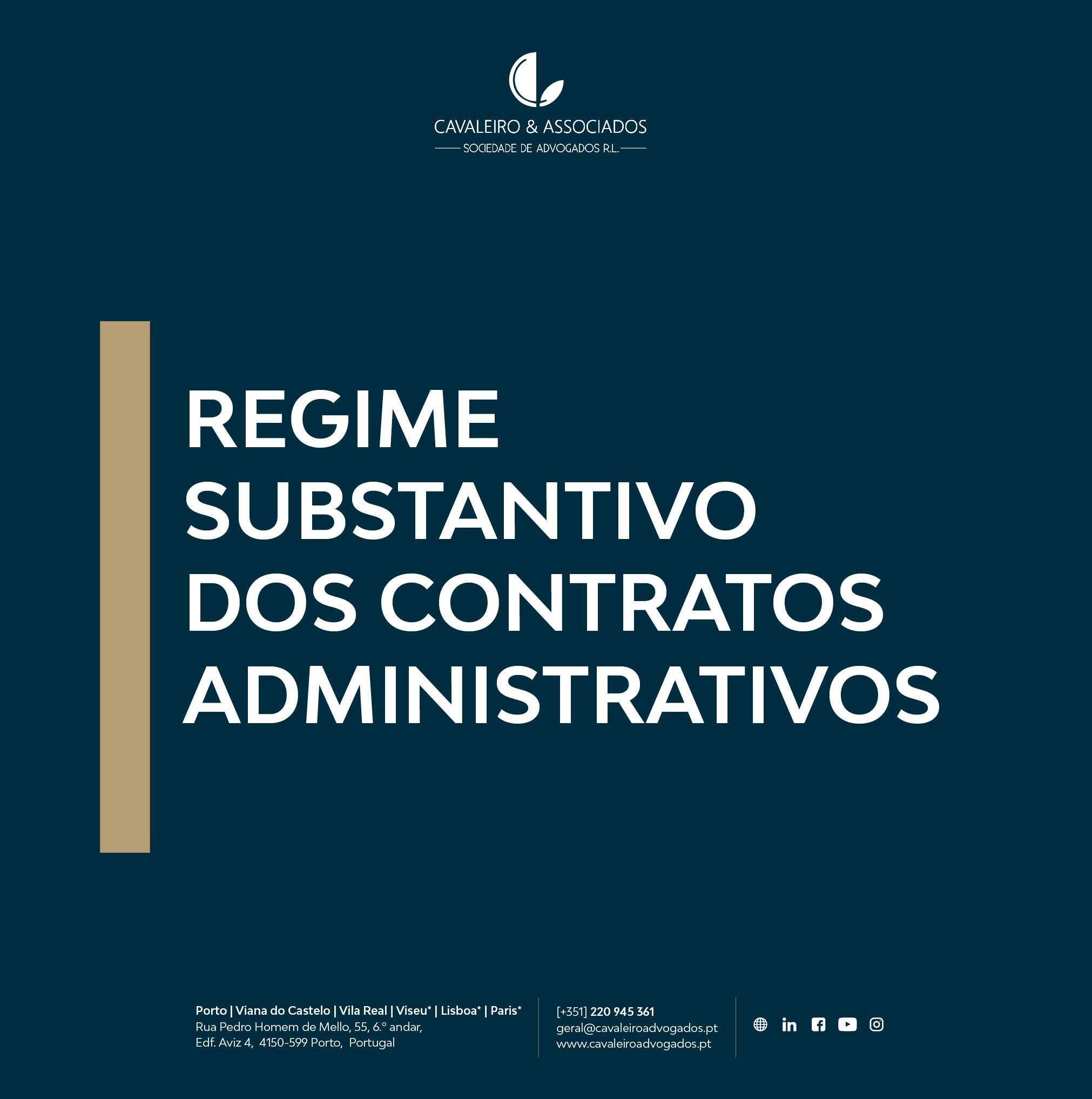 Regime Substantivo dos Contratos Administrativos