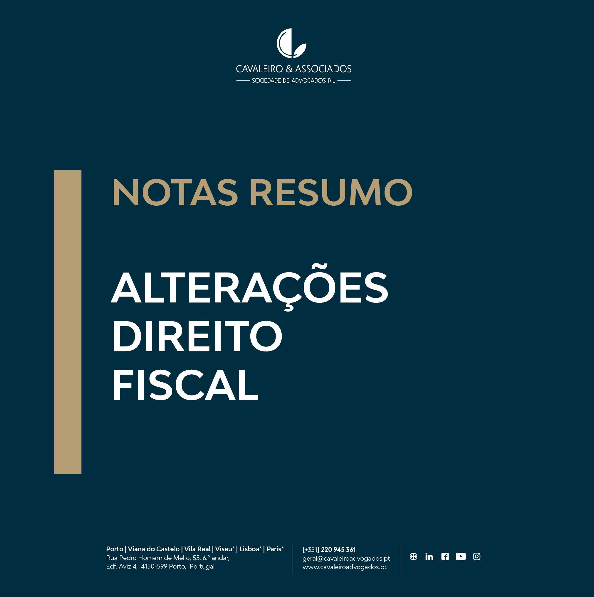 ALTERAÇÕES DIREITO FISCAL